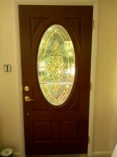 We get a new front door. It looks amazing!