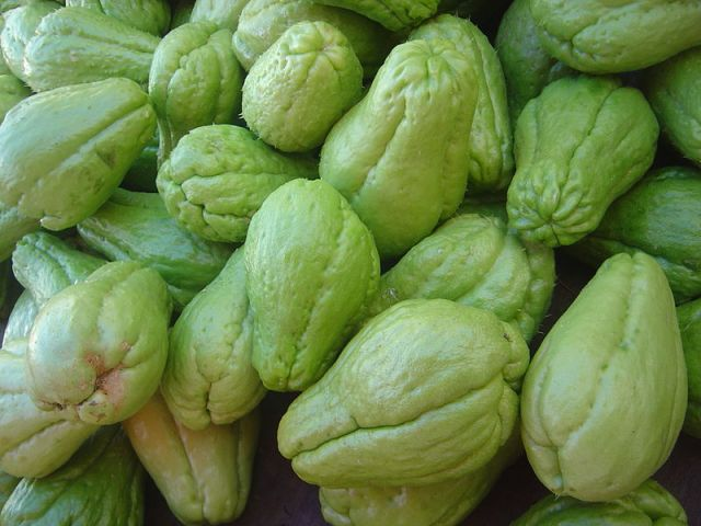 Chayote - photo from Wikipedia