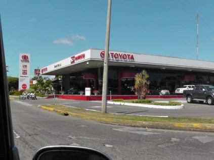 The large Toyota dealership