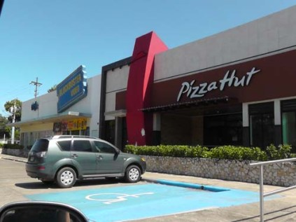 We have Pizza Hut down the street.