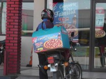 They will also send a guy on a motorcycle to bring you your pizza.