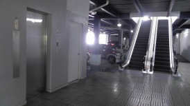 Underground parking at the nearby shopping area