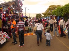 Even the streets leading up to the fair entrances were full of vendors.