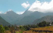 Beautiful mountains in the Volcan area.
