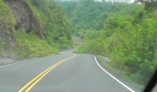 A very windy road. The photo doesn't give you the sense of how very steep it was too!