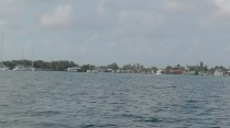 We can see Bocas in the distance.