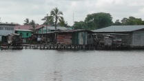 We were waiting for the water taxi, and this is what it looked like in the area.