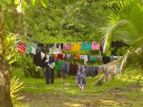 Even if you live on the beach, one must have laundry on the line.