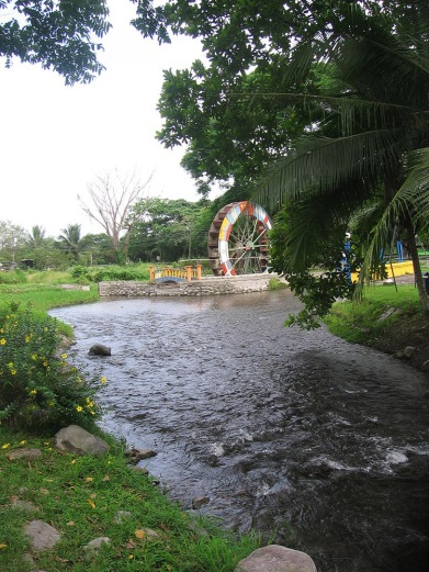 You can also see this large water wheel from the road.