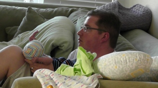 Watching TV with dad