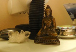 I've had this little Buddha statue on my desk for many years.
