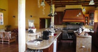 Large, comfortable kitchen.