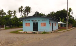The funeral home in Guarumal, a little town we passed through on the way.
