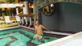 Each pool also has a bar area.