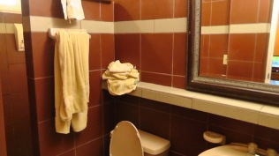 The bathroom is adequate, and has hot water.