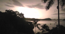 There was a thunderstorm the first night. Joel caught this shot just as the lightning flashed!