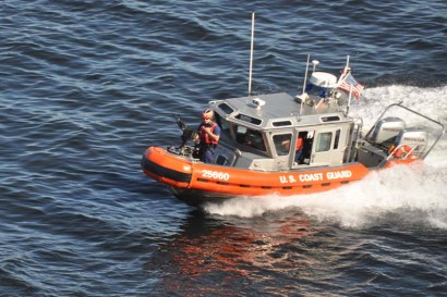 As we left port we had a Coast Guard escort on either side, complete with machine guns!