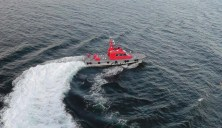 Later, a pilot boat came alongside to pick up the pilot who had gotten us out of the Seattle area.