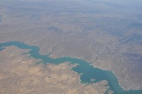 Then, we flew over beautiful deserts and rivers and fields and hills and more scenery than I can mention.