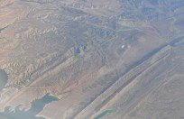 Many land formations look really interesting from the air.