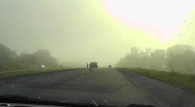 We head back to the airport as the sun cuts through the morning fog.