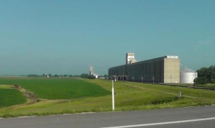 Huge Cargill grain elevators.
