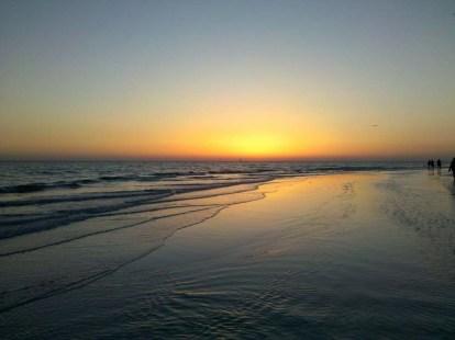 Florida - Siesta Key Beach at sunset.