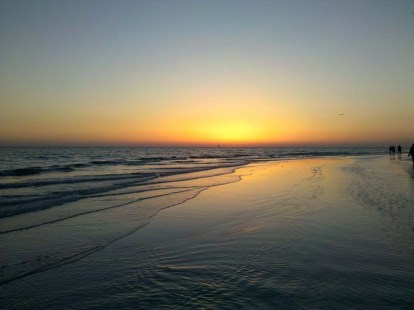 Florida - Siesta Key Beach at sunset.