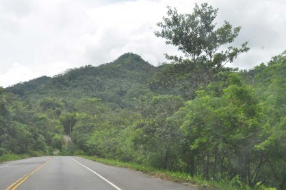 The PanAmerican highway also goes through beautiful scenery.