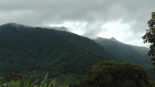 It is an ever changing view of mountains and clouds and beauty.