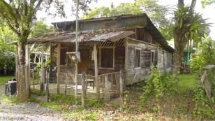 Interesting little wooden house.