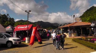 There were many places along the path with food and merchandise for sale.