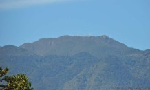 On this clear day it is easy to see the communication towers on the top of Volcan Baru.