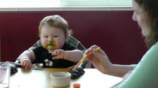 One must always wear lunch as well as eat it.