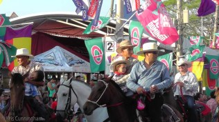 The little girl is cute, but also look to the left of the photo. That little boy was sound asleep in the saddle.