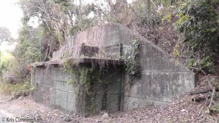 The upper entrance to a bomb proof tunnel built in 1942 to house key military personnel in case of emergency.