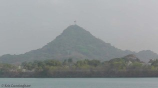 Ancon Hill in the distance, with the huge flag on the top.
