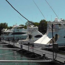 First, we decided to stop at the marina at the south end of town. There were some very impressive boats there that day!