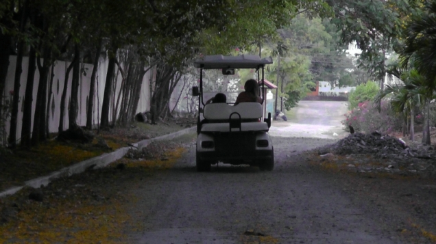 We saw quite a few golf carts, and many of them were being driven by kids.