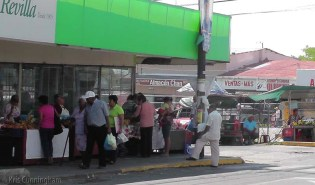 Produce vendors on the streets in David, Panama.
