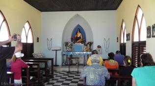 The inside of the Alto Vista Chapel.