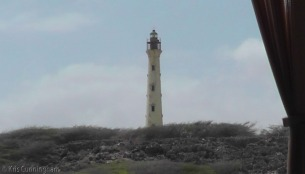 I snapped a photo of the lighthouse as we were driving away. I spent most of our few minutes there talking with the driver because I couldn't figure out what he was saying about the lighthouse, and needed him to explain it in English. Apparently a ship named California ran aground here, and the people of Aruba took care of the people until they could get on their way again. In return, the ship people went diving and retrieved the furniture in the ship, and sold it to the locals for cheap prices.