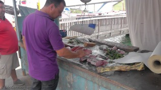 Fish for sale.