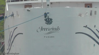 I took a close shot of the name of the ship so I could look it up later.