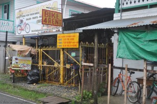 This is the bike shop where we rented our bikes. They also have a great selection of bike accessories. I bought a new seat for my own bike.
