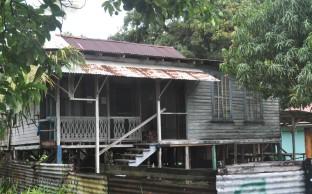 One of the many interesting houses. I like the weathered wood.