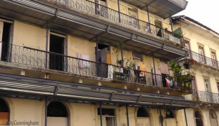 Many buildings are still occupied by people who were there long before the renovations and improvements started.