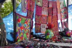 There were many Kuna Indians selling molas and other items.