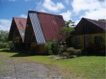 You know you are at the finca when you see the three casitas.