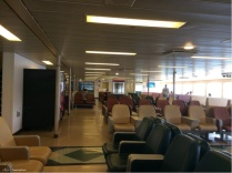 When I decided to leave the ferry was just boarding. This one had a very comfortable inside seating area.